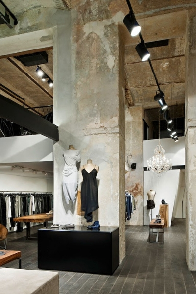 pared cemento retail decoracion