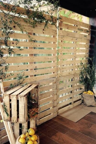 pared pales madera