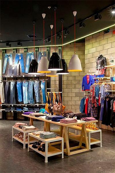 Exposición productos tienda