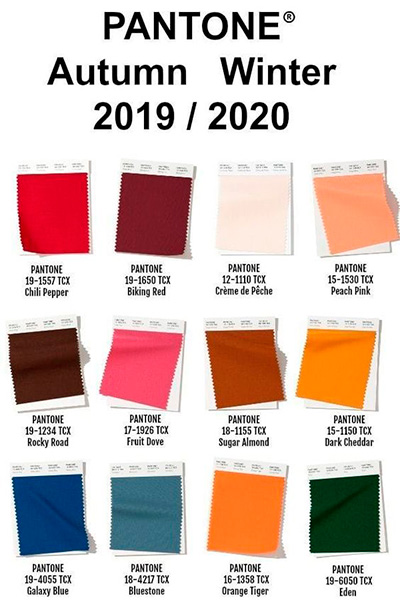 Pantone Otoño-Invierno 2019-2020