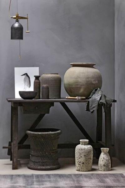 Elementos decorativos Wabi Sabi